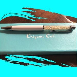 ORIGAMI OWL 💙 Crystal-Filled Ballpoint Pen Boxed